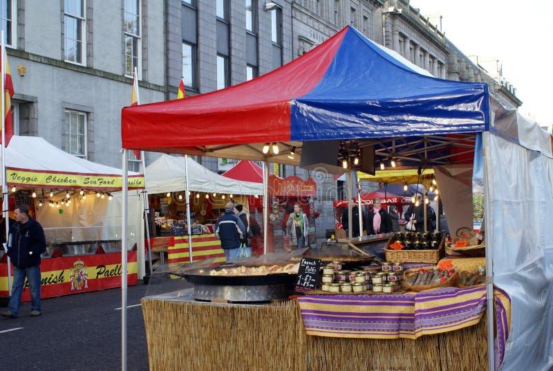 Faire do feriado em Aberdeen, Escócia foto de stock