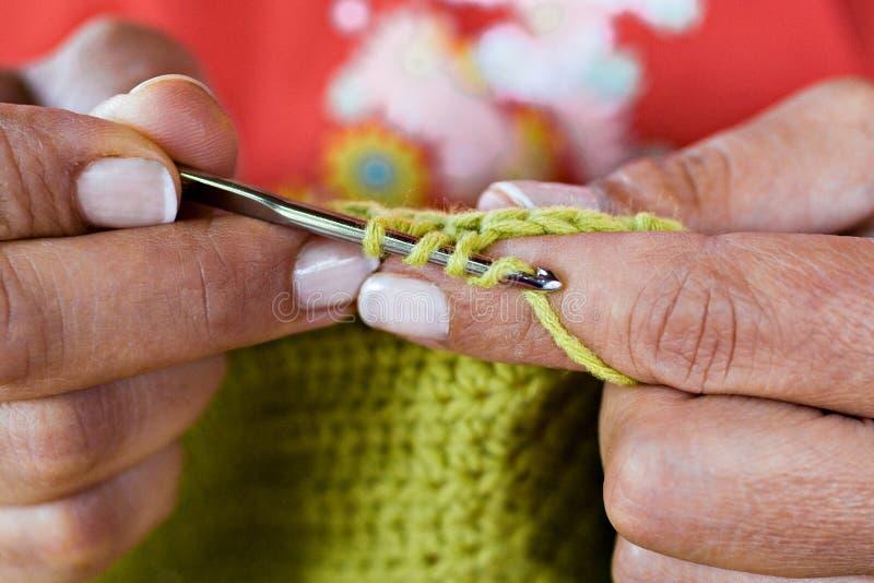 Faire du crochet photographie stock libre de droits