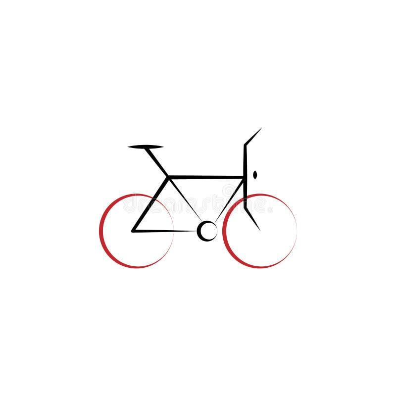 Faire du vélo 2 a coloré l'icône tirée par la main Illustration faisante du vélo d'élément coloré Conception de symbole d'ensembl illustration stock