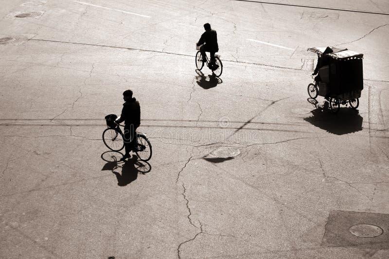 Faire du vélo dans bejing photographie stock