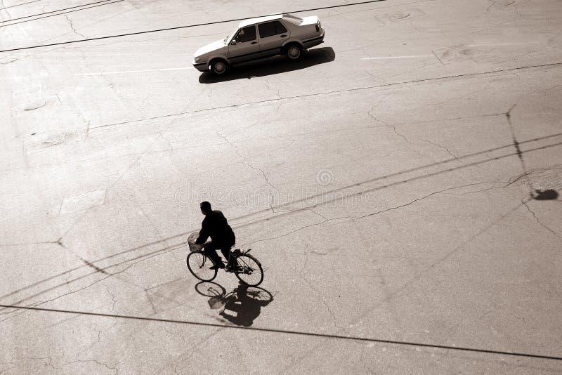 Faire du vélo dans bejing photographie stock libre de droits