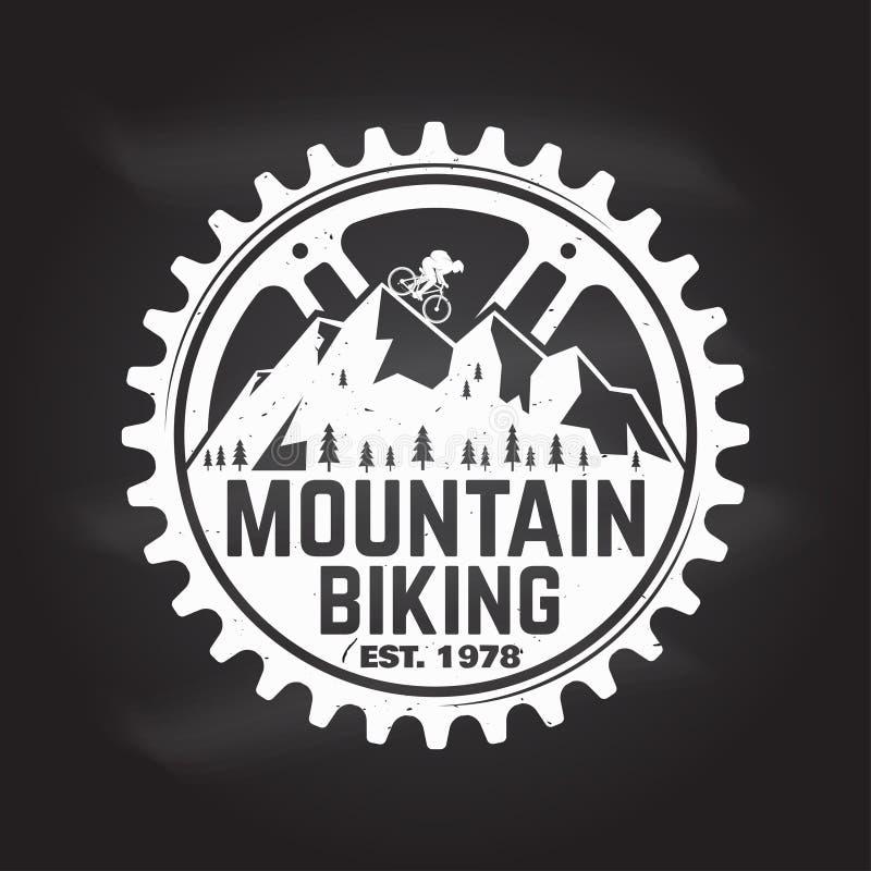 Faire du vélo de montagne Illustration de vecteur illustration de vecteur