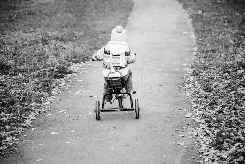 Faire du vélo de petite fille photo stock