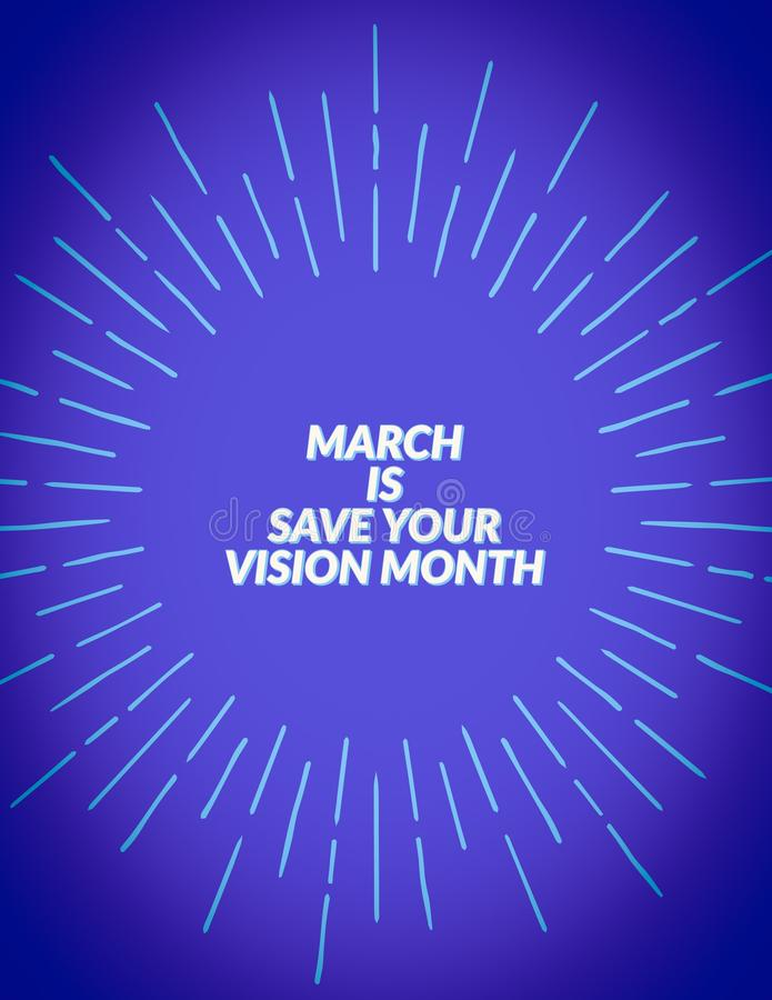 Faire gagner votre mois de vision illustration libre de droits