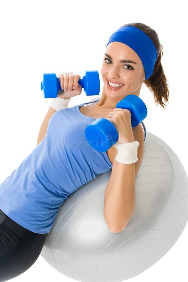 faire la femme de forme physique d'exercice images libres de droits