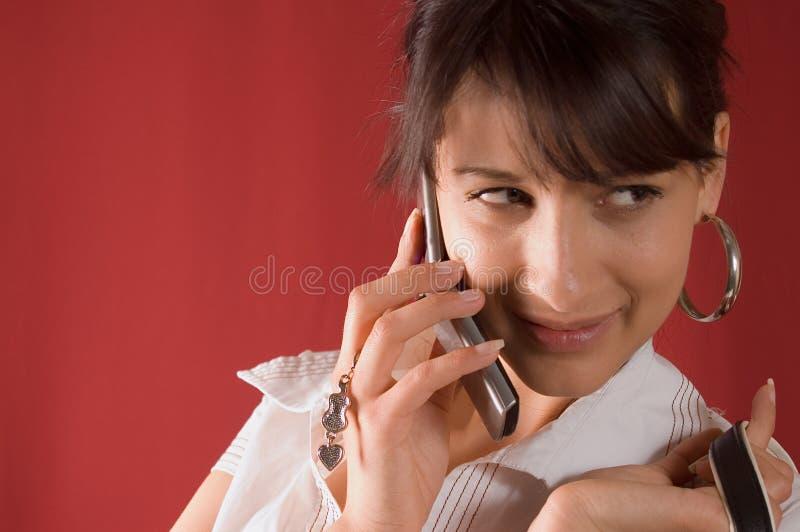 Faire un appel photo stock