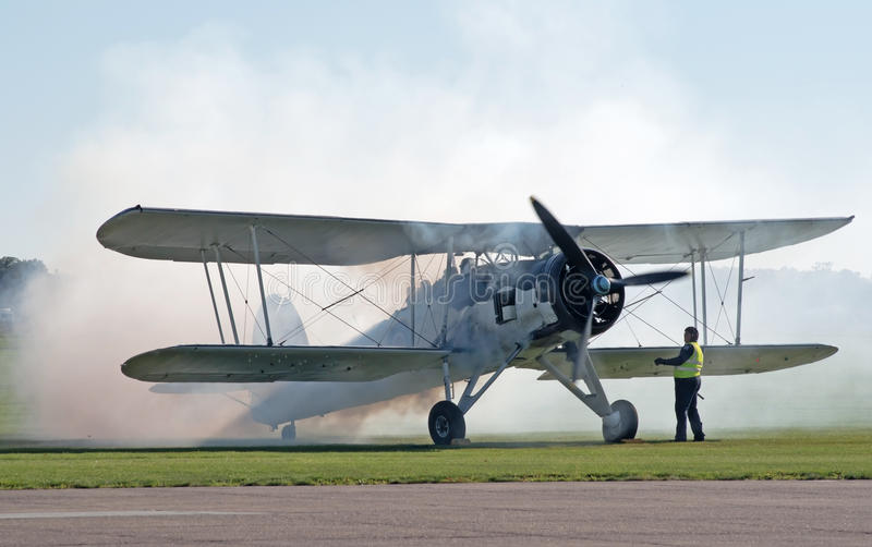 Fairey Swordfish Starts Its Engine Editorial Image