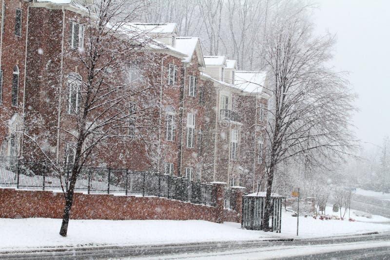 Fairfax街道冬天 免版税库存图片