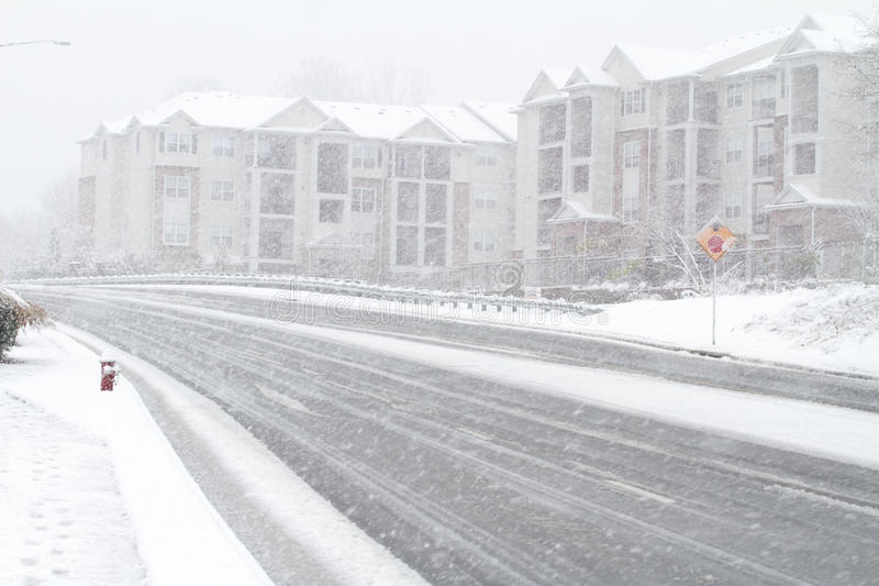 Fairfax θύελλα χιονιού Στοκ Φωτογραφία