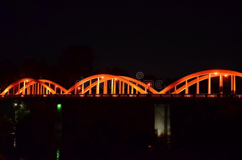 Fairfield bro, binda-båge struktur, Hamilton, Nya Zeeland arkivfoton