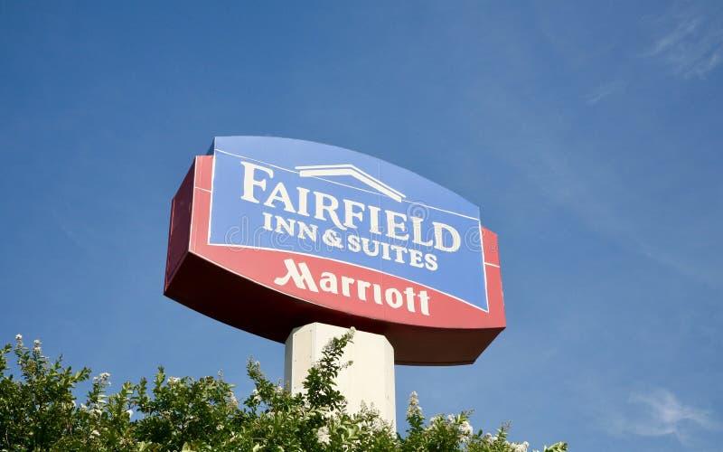 Fairfield-Gasthaus u. -reihen lizenzfreies stockfoto