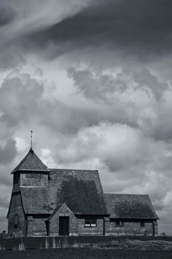 Fairfield-Kirche, Romney Marsh stockbild