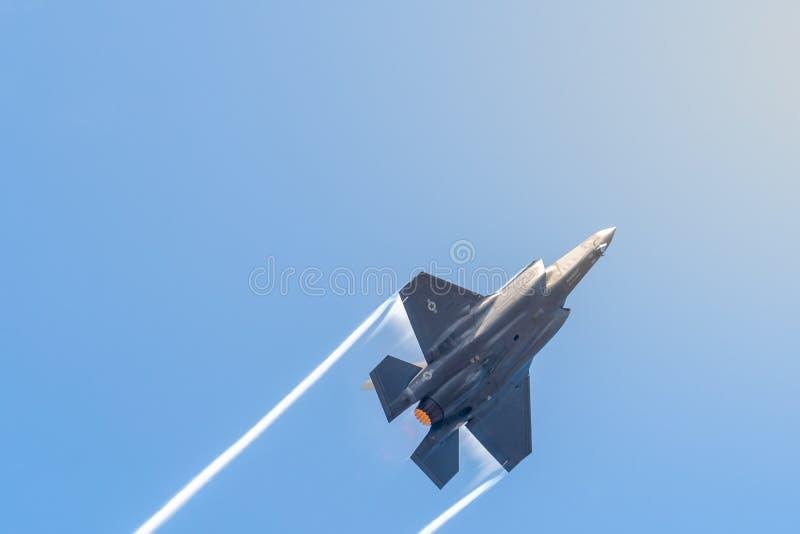 FAIRFORD, HET UK, 13 JULI 2018: Een foto die Lockheed documenteren stock foto