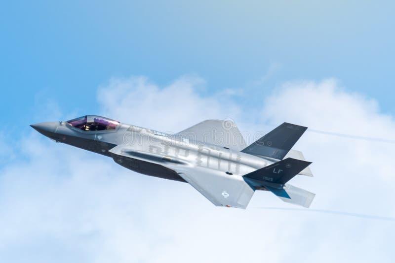 FAIRFORD, REINO UNIDO, O 13 DE JULHO DE 2018: Uma fotografia que documenta um Lockheed imagens de stock