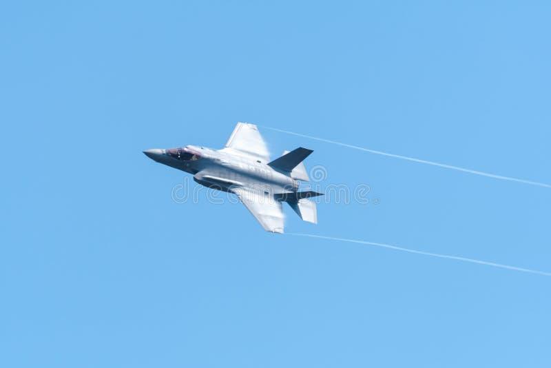 FAIRFORD UK, JULI 13 2018: Ett fotografi som dokumenterar en Lockheed royaltyfri foto
