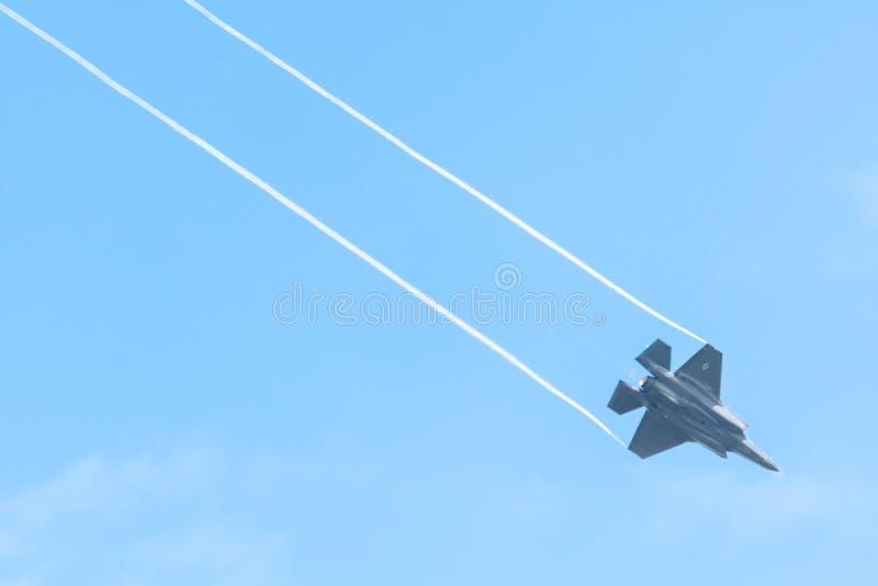FAIRFORD, UK, LIPIEC 13 2018: Fotografia dokumentuje Lockheed zdjęcia stock