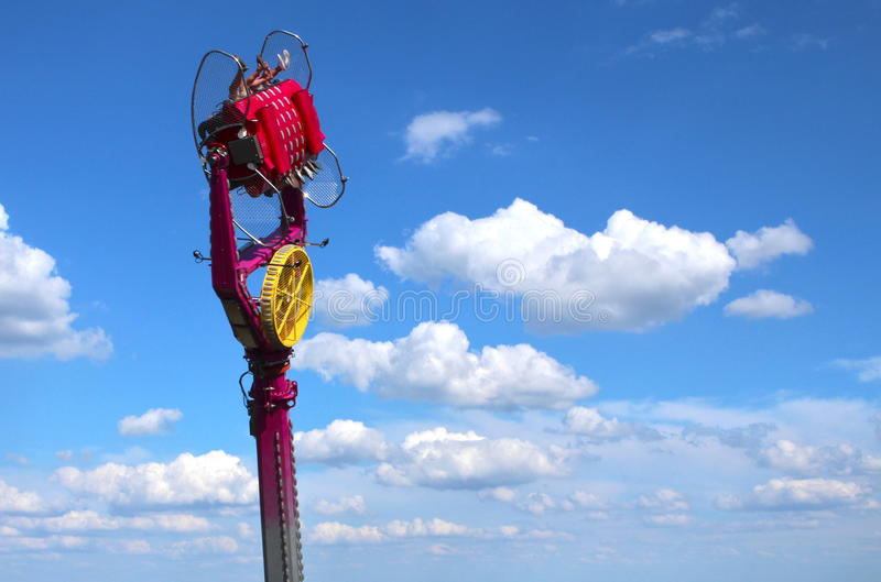 Fairground attraction in the sky stock photos