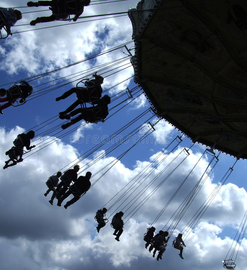 Free Fairground Ride Silhouette 01 Royalty Free Stock Photography - 5795837