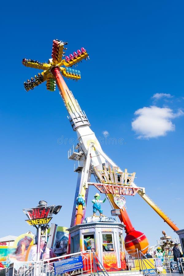 Fairground Rides At The Oktoberfest In Munich Editorial Photo