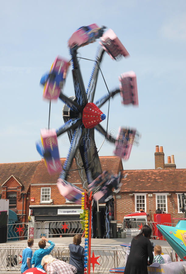 Download Fairground thrills editorial photo. Image of horse, crowds - 24879411