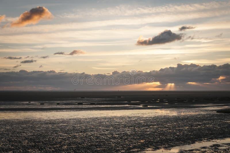 Fairhaven-Sonnenuntergang lizenzfreie stockbilder