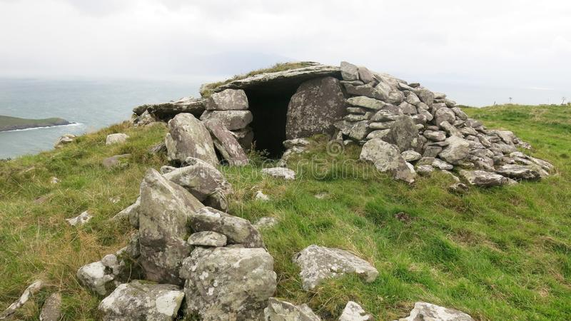 Poukauncorrin ancient burial tomb royalty free stock photography
