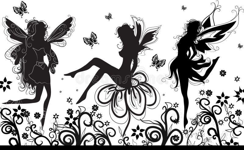 Download Fairies dance stock illustration. Illustration of decorative - 592679