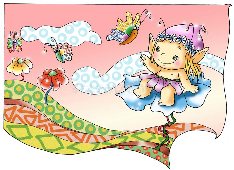 Download Fairies And Elves 1, The Magic Stock Illustration - Image: 9951572