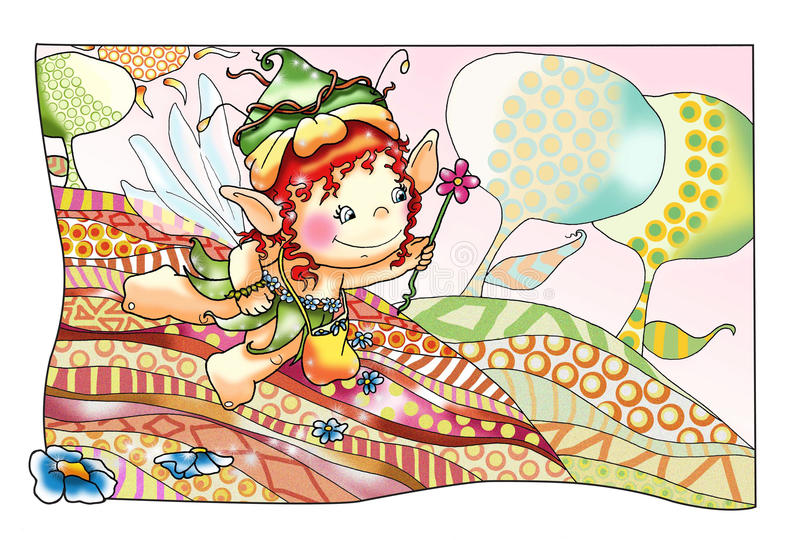 Fairies and elves 5, the spring stock photo