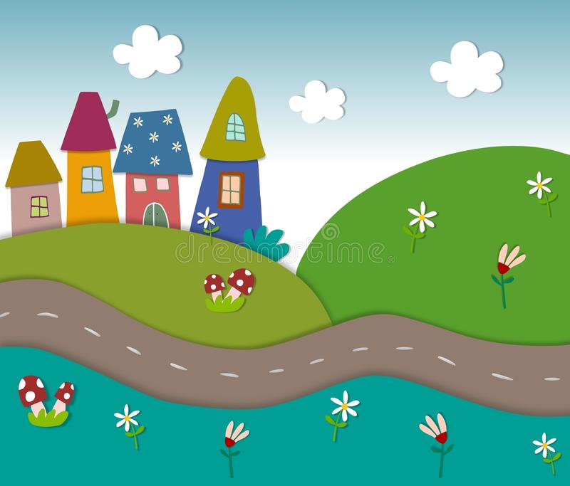 Fairly Tale Landscape Stock Images