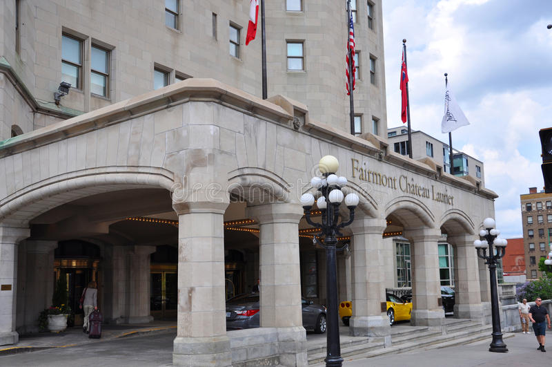 Fairmont大别墅Laurier在渥太华,加拿大 库存图片