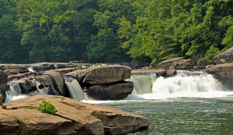 fairmont падает wv водопадов долины стоковое фото rf
