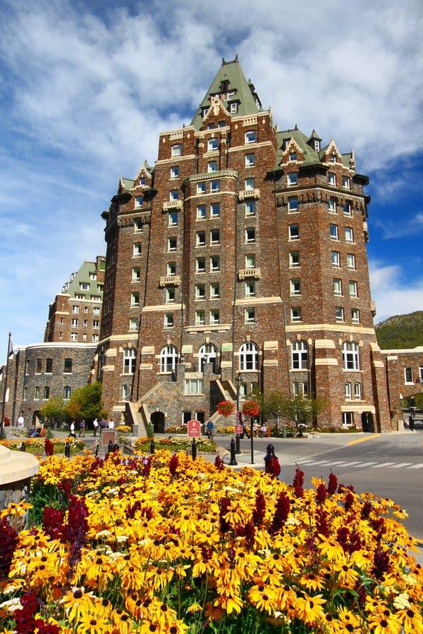 Fairmont Banff Springs Canadá foto de archivo