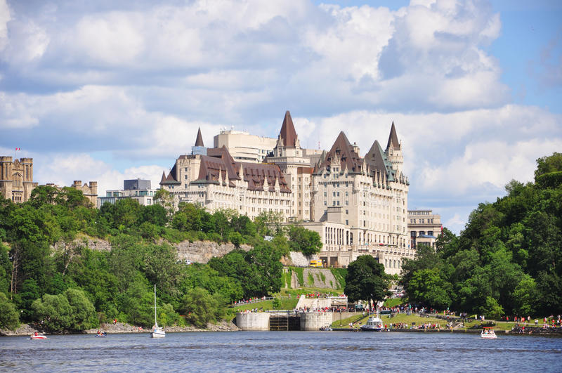 Fairmont Chateau Laurier in Ottawa. Ontario, Canada royalty free stock image