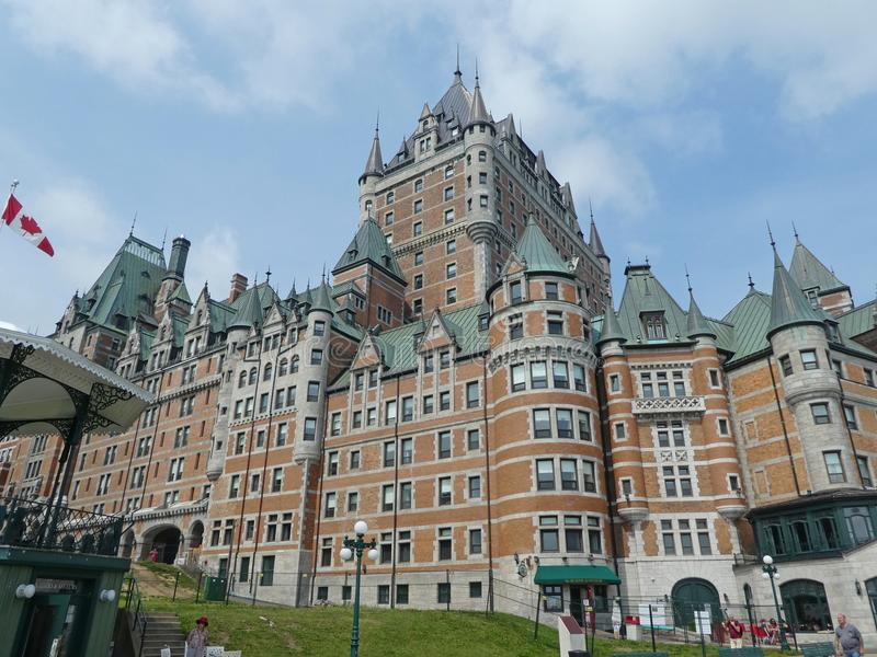 Fairmont Chateua Frontenau Hotel in Quebec City. The Fairmont Le Chateau Frontenac Hotel on the old town of Quebec City s pictured on August 8 2018 stock photography