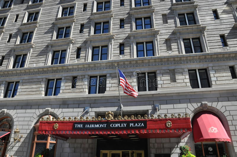 The Fairmont Copley Plaza hotel. In Boston, Massachustts, USA royalty free stock images