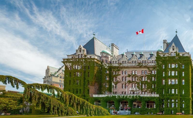Fairmont Empress Hotel. Fairmont Empress (most commonly known as The Empress) is one of the oldest and most famous hotels in Victoria, British Columbia, Canada stock photos