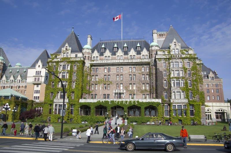 The Fairmont Empress hotel Victoria BC Canada. The Fairmont Empress is a nice hotel occupying a historic building in Victoria BC, Canada stock images