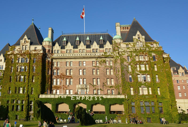 The Fairmont Empress. VICTORIA, BC, CANADA AUGUST 23: The Fairmont Empress is one of the oldest and most famous hotels on August 23 2014 in Victoria, British stock image