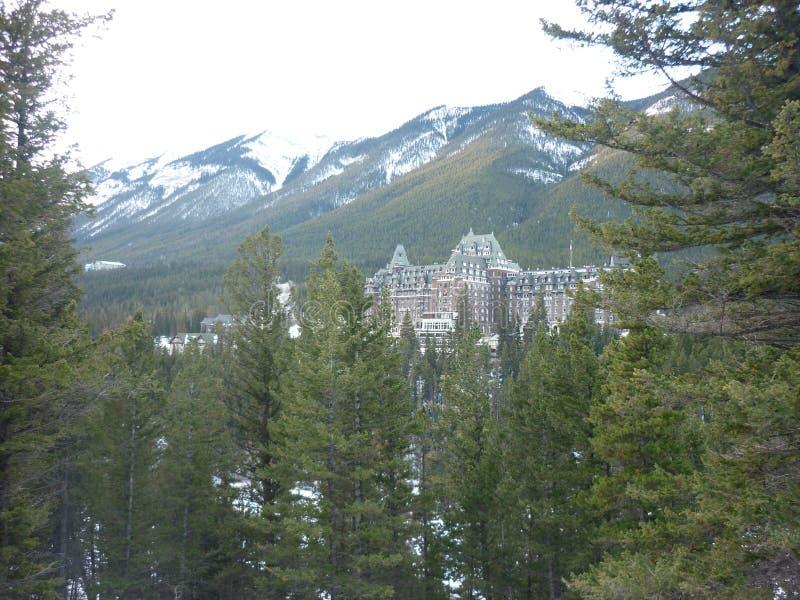 Fairmont-Frühlings-Hotel Banff stockbild