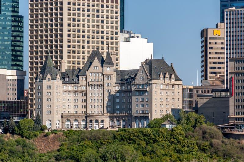 Fairmont hotell MacDonald royaltyfri foto