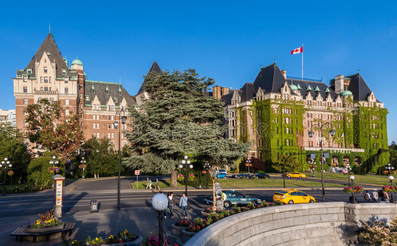 Fairmont-Kaiserin-Hotel Victoria Canada lizenzfreie stockbilder