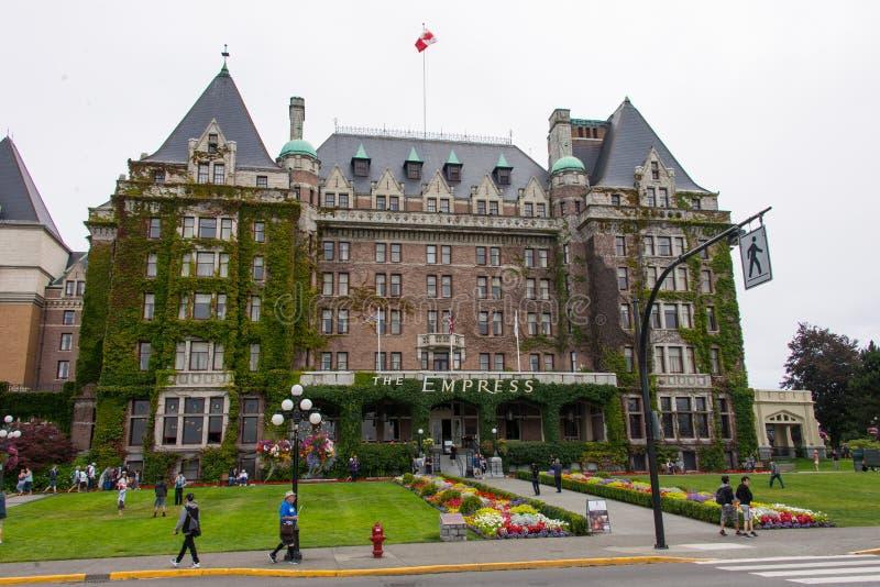 Fairmont-Kaiserin-Hotel, Victoria, Kanada stockfotos