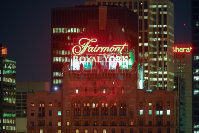 Fairmont Koninklijk York - Toronto stock foto