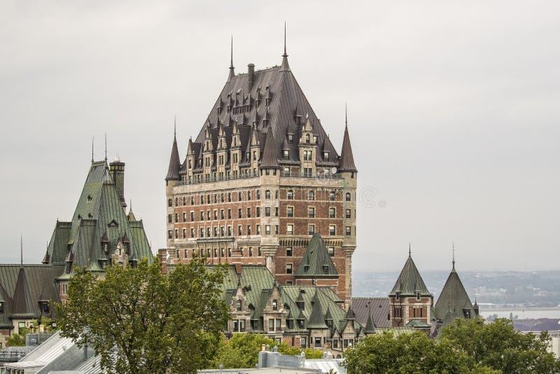 Fairmont le chateau frontenac stock fotografie