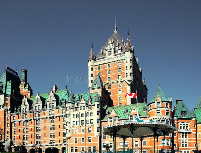 Fairmont Le Chateau Frontenac, de Stad van Quebec, Canada royalty-vrije stock foto's