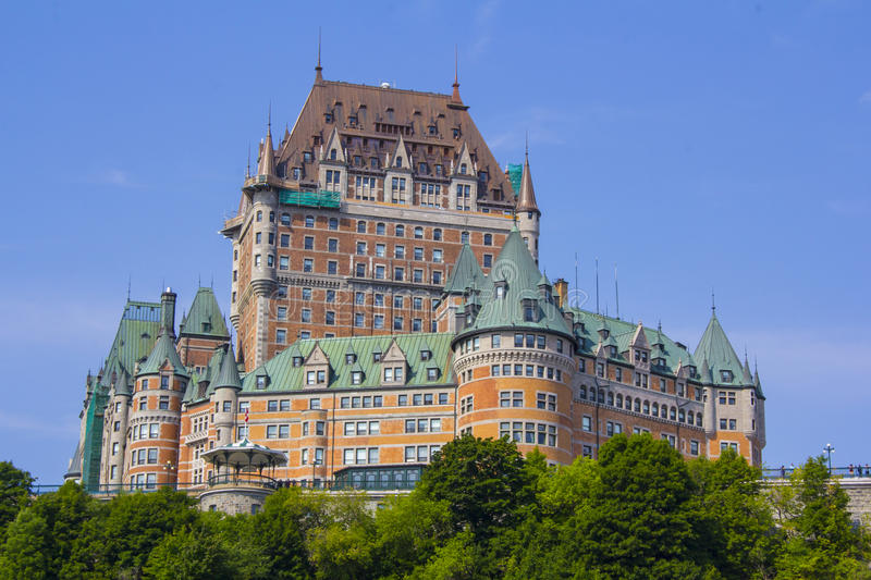 Fairmont Le Chateau Frontenac in Quebec City, Canada royalty free stock photo