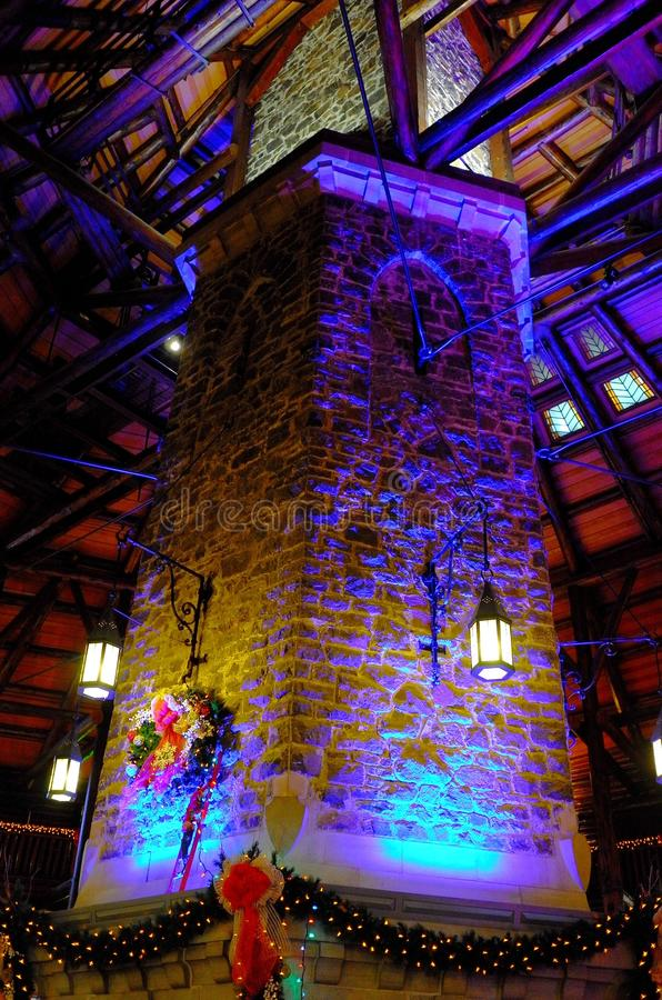 Fairmont le chateau montebello stock photography