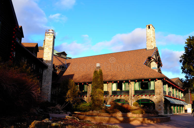 Fairmont le chateau montebello. Winter stock image