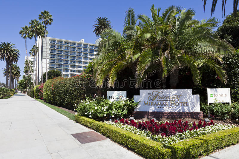Fairmont Miramar Hotel royalty free stock photo